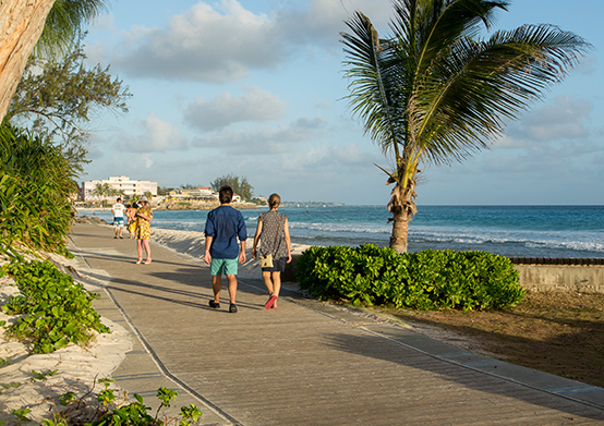 South Coast Boardwalk at South Beach Hotel Christ Church, Barbados