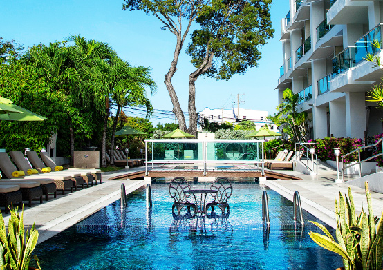 Swimming Pool at South Beach Hotel Christ Church, Barbados
