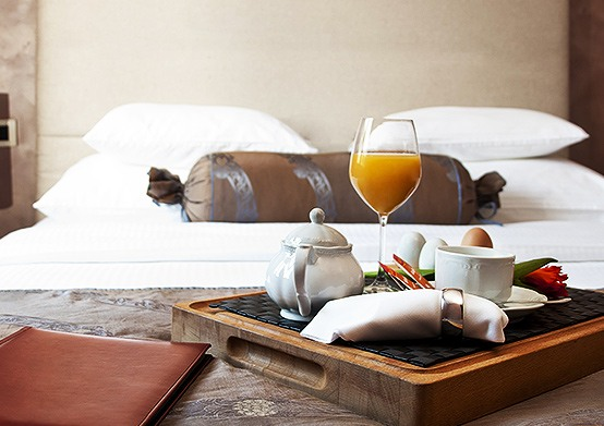 Breakfast in Bed at South Beach Hotel Christ Church, Barbados